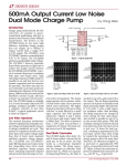 June 2006 500mA Output Current Low Noise Dual Mode Charge