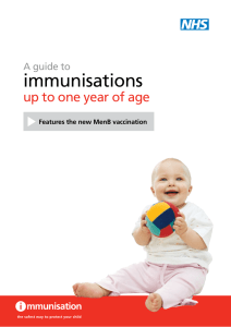 immunisations up to one year of age A guide to