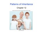 Patterns of Inheritance Chapter 12