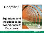 Chapter 3 Equations and Inequalities in Two Variables;