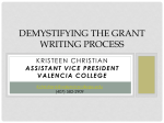 Demystifying the Grant Writing Process