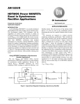 AN1520/D HDTMOS Power MOSFETs Excel in Synchronous