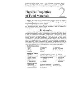 Physical Properties of Food Materials
