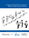 A Guide to Rapid Market Appraisal (RMA) for Agricultural