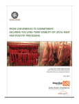 From ConvenienCe to Commitment: SeCuring the Long-term viabiLity oF LoCaL meat