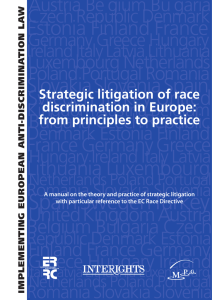 Strategic litigation of race discrimination in Europe