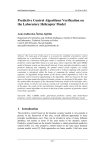 Predictive Control Algorithms Verification on the Laboratory Helicopter Model