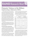 Domestic Violence in the Military Implementing Collaborative MOUs
