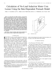 Calculation Of No-load Induction Motor Core Losses Using The Rate