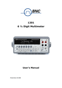 1201 6 ½ Digit Multimeter - Berkeley Nucleonics Corporation