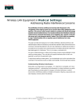 Wireless LAN Equipment in Medical Settings: Addressing Radio