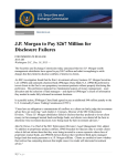 J.P. Morgan to Pay $267 Million for Disclosure Failures