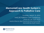 MemorialCare Health System's Approach to Palliative Care