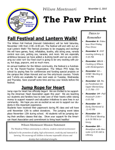The Paw Print Fall Festival and Lantern Walk! Wilson Montessori