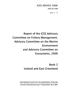 Report of the ICES Advisory Committee on Fishery Management, Environment