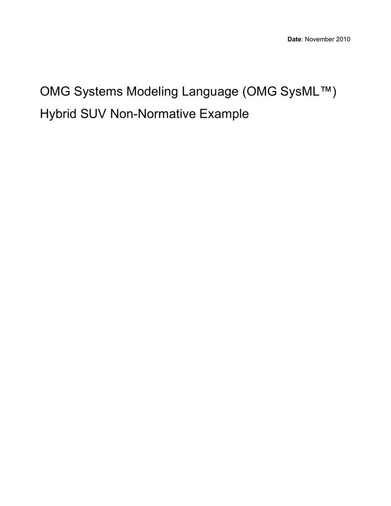 OMG Systems Modeling Language ...