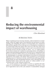 Chapter 8 Reducing The Environmental Impact Of Warehousing