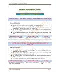 TRAINING PROGRAMMES 2010-11 PROFESSIONAL COURSES INSTITUTIONAL TRAINING FOR IAS PROBATIONERS 2009 BATCH