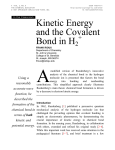 Kinetic Energy and the Covalent Bond in H2