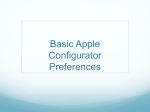 Basic Apple Configurator Preferences