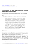 Physiochemicals and Heavy Metal Removal from Domestic Wastewater via Phycoremediation
