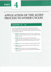 APPTICATION OF THE AUDIT PROCESS TO OTHER CYCTES
