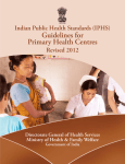 (IPHS) Guidelines for PRIMARy HEALTH CENTRES