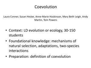 Coevolution In-Class Powerpoint Presentation