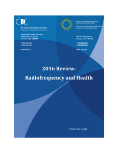 2016 Review: Radiofrequency and Health