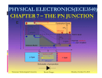 physical electronics(ece3540) chapter 7 – the pn junction