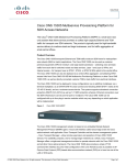 Cisco ONS 15305 Multiservice Provisioning Platform for SDH Access Networks