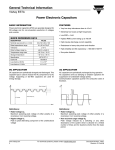 Power Electronic Capacitors General Technical Information