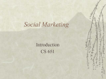 Social Marketing Introduction CS 651