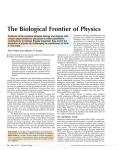 structural biology, biochemistry, and genetics have yielded an explosion of