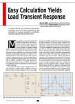 Easy Calculation Yields Load Transient Response