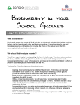 Biodiversity in your School Grounds