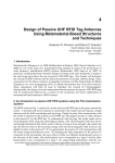 Design of Passive UHF RFID Tag Antennas Using Metamaterial