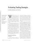 W Evaluating Trading Strategies C R. H