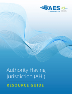 Authority Having Jurisdiction (AHJ)