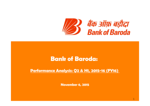 Bank of Baroda: Performance Analysis: Q2 & H1, 2015 16 (FY16)