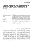 Comparison of benthic and pelagic suspension feeding in