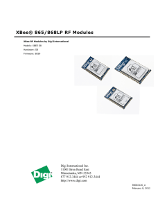 XBee® 865/868LP RF Modules