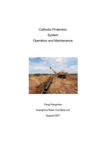 Cathodic Protection System Operation and Maintenance