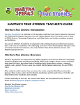 martha`s true stories: teacher`s guide