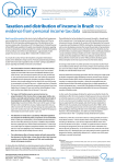 ONE PAGER Taxation and distribution of income in Brazil:new