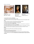 Art 1 Quiz 1 Study Guide Cave Painting The Bust of Nefertiti The