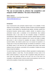 The  use  of  micro-data  to ... analysis of BoP statistics: The case of South Africa