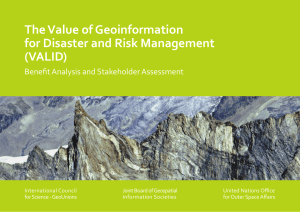 The Value of Geoinformation for Disaster and Risk Management (VALID)