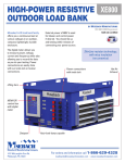 HIGH-POWER RESISTIVE OUTDOOR LOAD BANK