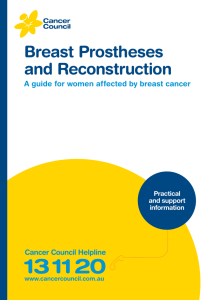 Breast Prostheses and Reconstruction
